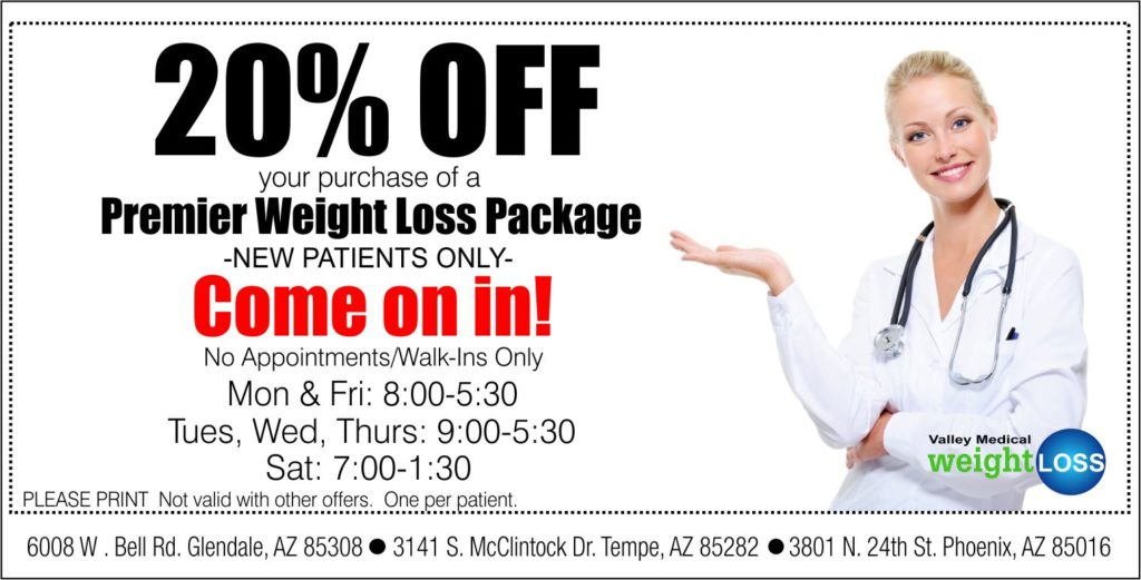 20% off coupon for Premier Weight Loss Package