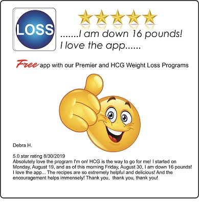 Thumbs up 5 star review for hCG weight loss program