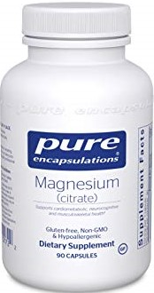 Magnesium Citrate supplement bottle